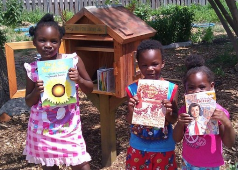Little Free Library in the Princeton Garden